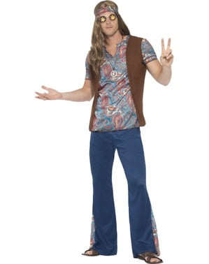 Disfraz de hippie festivalero para hombre