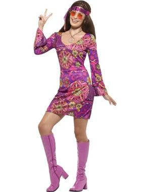Vrije liefde hippie kostuum voor vrouw