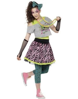 Disfraz de rebelde de los años 80 para mujer