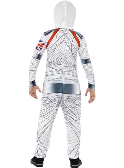 Fato de astronauta espacial para menino