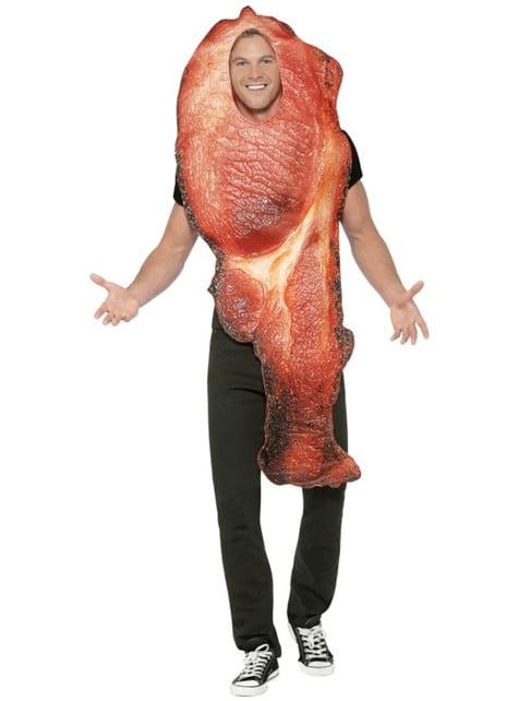 Fato de costeleta de bacon para homem