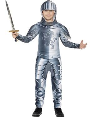 Fato de cavaleiro medieval para menino