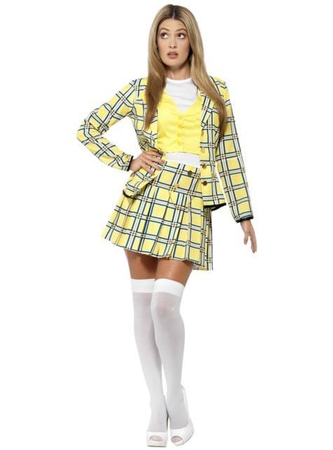 Fato de Cher amarelo Clueless para mulher