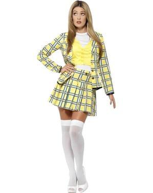 Gult Cher Clueless Kostyme Dame