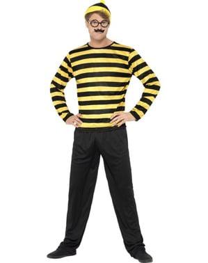 Odlaw Waar is Wally kostuum voor volwassenen