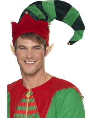 Czapka elf pomocnik z uszami dla dorosłych