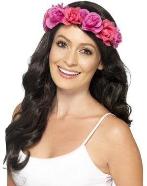 Hårband med blommor dam