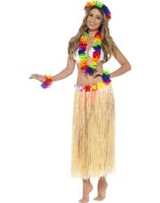bb10b0969 Disfraz de hawaiana. Faldas y complementos. Aloha!