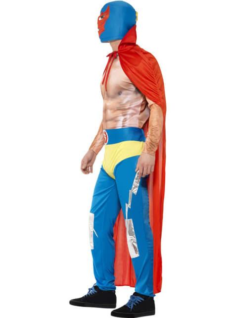 Disfraz de rey del ring mexicano para hombre - original
