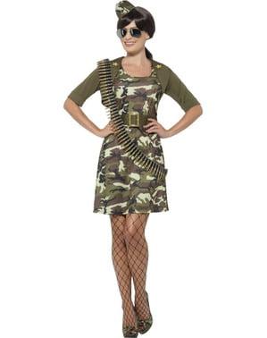 Veelbelovende cadet kostuum voor vrouw