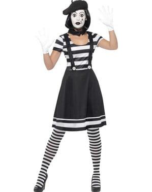 Mime Maskeraddräkt för henne