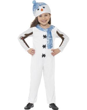 Costum de om de zăpadă îmbrăcat pentru copii