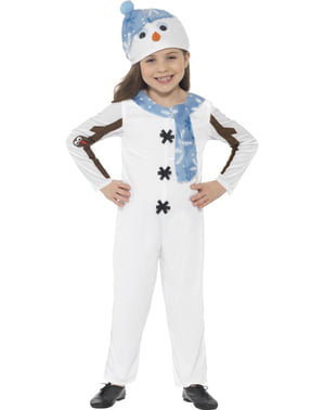 Детето е обгърнато с топъл костюм за снежен човек