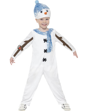 Дитячий загорнутий теплий костюм сніговика