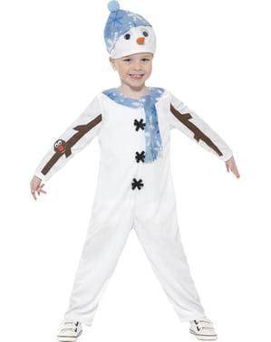 Sneeuwpop met jas kostuum voor kinderen