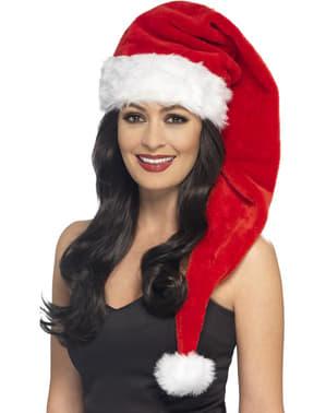 Cappello da Babbo Natale extra lungo per adulto