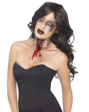 Garganta desgarrada zombie para adulto
