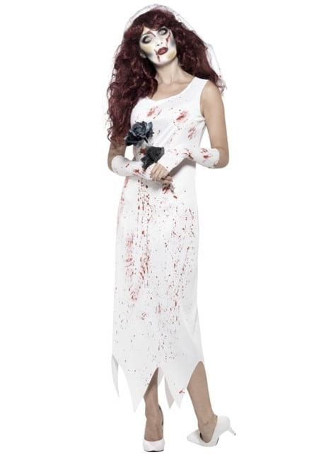 Déguisement fiancée zombie femme