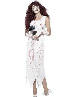 Fato de noiva zombie para mulher