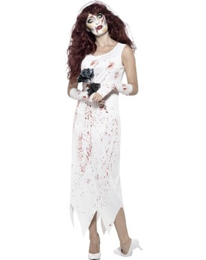 Strój panna młoda zombie damski