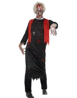 Zombie Prest Kostyme Mann