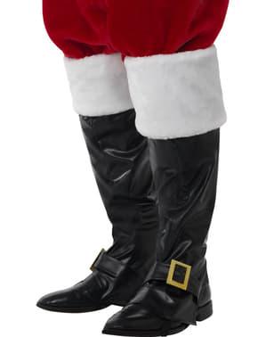 Kerstman boot covers deluxe voor mannen