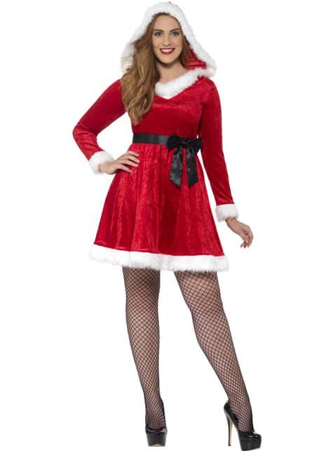 Nti Joulupukki plus size asu naisille