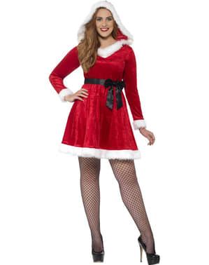 Julekone plus size kostume til kvinder