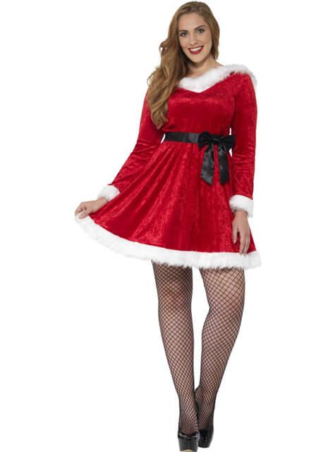 Disfraz de Miss Santa para mujer talla grande - mujer