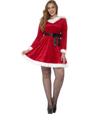 Дамски костюм на Мис Коледа, макси размер