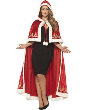Woman's Miss Claus Cape