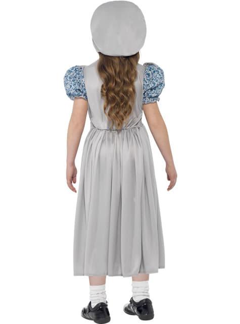 Disfraz de estudiante victoriana para niña - niña