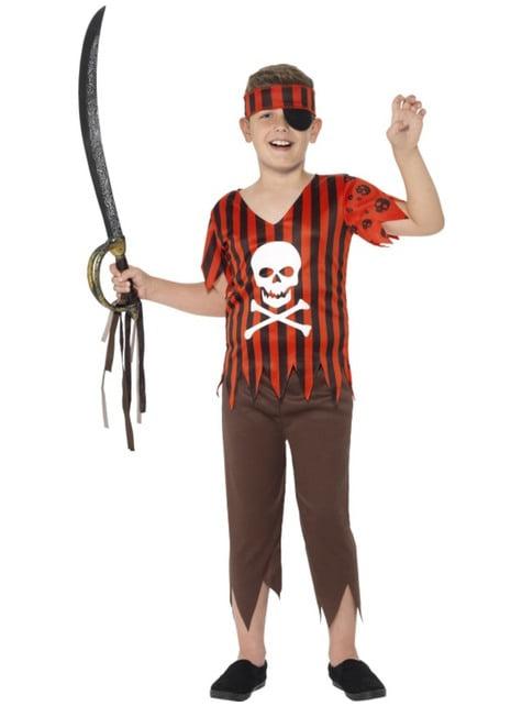 Pirat Jolly Roger Kostüm für Jungen
