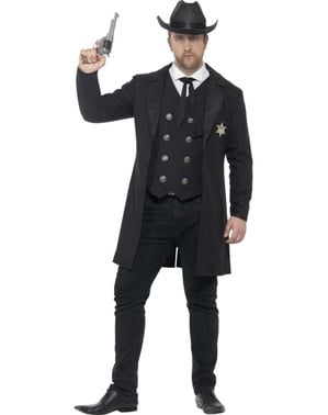Costum de șerif justițiar pentru bărbat