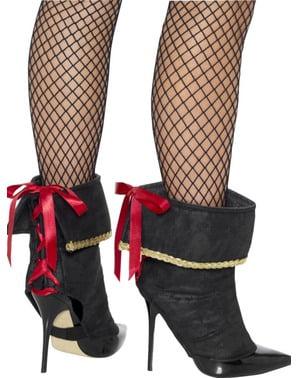 Cobre botas de pirata para mulher