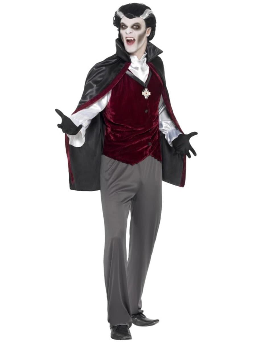 Disfraz de vampiro terciopelo para hombre Funidelia