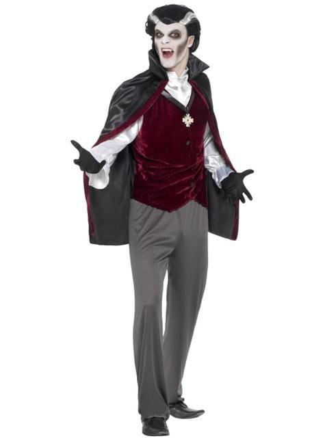 Disfraz de vampiro terciopelo para hombre