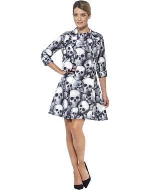 Skjelett Skalle Dress Dame