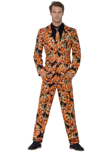 Man's Creepy Pumpkin Suit