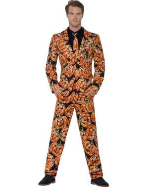 Costum barbați model Dovleac Halloween