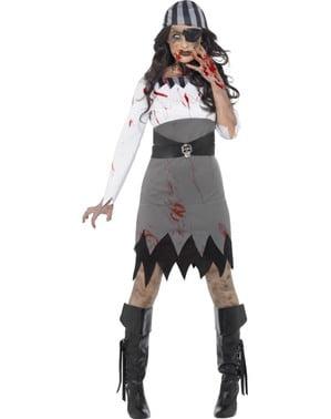 Maskeraddräkt Pirat zombie dam