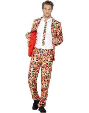 Süßigkeiten-Print Anzug