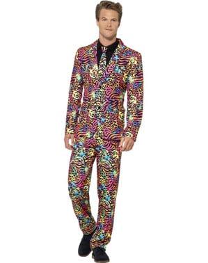 Kolorowy cętkowany garnitur