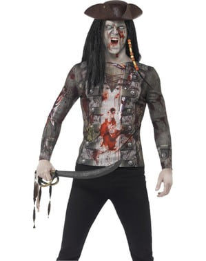 Overhemd van zombie piraat voor mannen