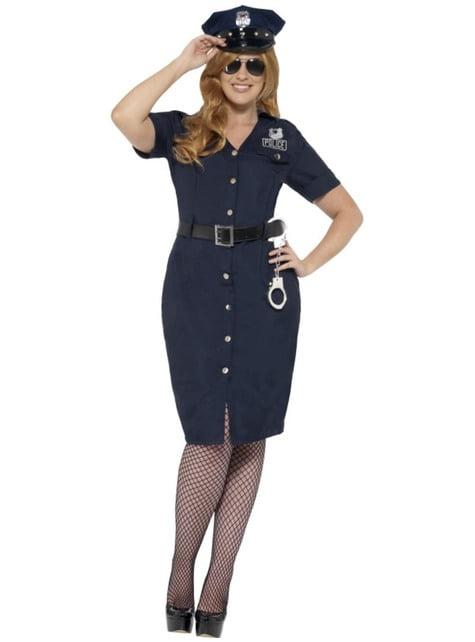 Plus size policewoman costume
