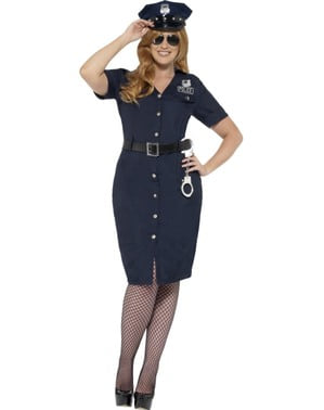 Plus size policewoman costume