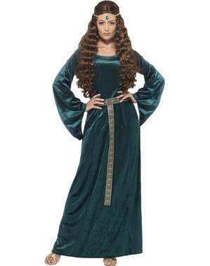 Mittelalterliche Zofe Kostüm für Damen