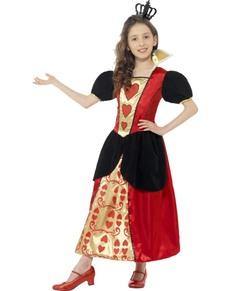 Costum de mica prințesă de inimi pentru fată