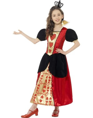 Disfraz de princesita de corazones para niña