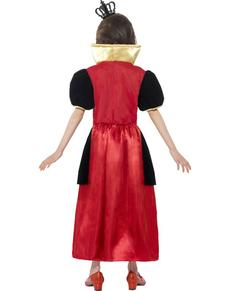 Costume da principessa di cuori per bambina